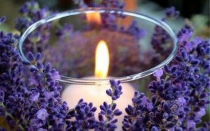 Mindfulness Retreat - Lavender with a candle